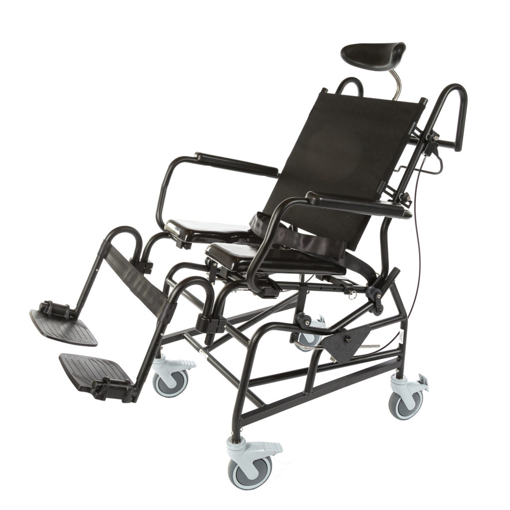 1218  Pediatric Rehab Shower/Commode Chair – Tilt  Weight capacity: 350 lbs  Frame width(s): 18″  Seat width & depth(s): 12″x12″, 14″x14″, 16″x16″, 18″x18″  Wheel/Caster sizes: 5″ casters
