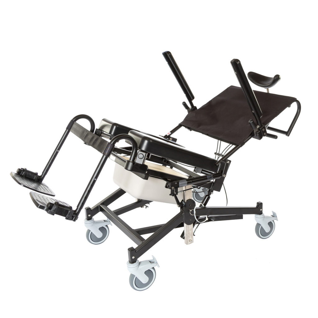 285TR  Rehab Shower/Commode Chair – Tilt, Recline, Seat Height Adjustment  Weight capacity: 350 lbs  Frame width(s): 16″,18″, 20″, 22″  Seat width & depth(s): 16″x18″, 18″x18″, 18″x20″, 20″x18″, 20″x20″, 22″x18″, 22″x20″  Wheel/Caster sizes: Front: 5″ casters